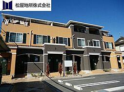 愛知県豊橋市下地町字橋口の賃貸アパートの外観