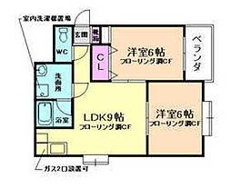 レジデンスエイト[2階]の間取り