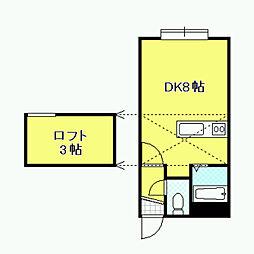 AMS桜D棟[101号室]の間取り