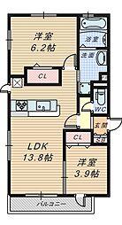 仮称D-Room陵南町[1階]の間取り