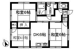 中村アパート[201号室]の間取り
