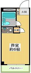 東京都世田谷区野毛2丁目の賃貸マンションの間取り