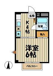 メゾン小菅ヶ谷[102号室]の間取り