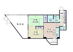 神奈川県横浜市港南区日野中央1丁目の賃貸マンションの間取り