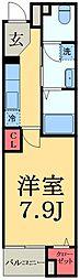 JR総武本線 佐倉駅 徒歩3分の賃貸マンション 3階1Kの間取り