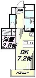 My Style vintage八王子 3階1DKの間取り