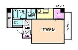 スタジオapt.ウッドハウス[6階]の間取り