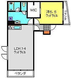 神奈川県横浜市神奈川区西寺尾2丁目の賃貸マンションの間取り