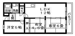 カランドリエ栗東[4階]の間取り
