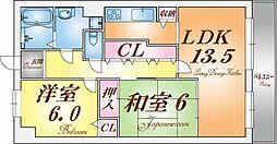 メル・ヴェーユ桃山台[1階]の間取り