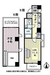Abitare Nishiazabu 5階1LDKの間取り