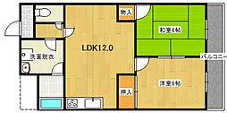 ミタカホーム8番[6階]の間取り