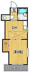 レオパレス新室見VI[1階]の間取り