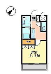 BLUE MOON[2階]の間取り