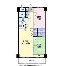 グラン・シャリオ二階堂 4階3LDKの間取り