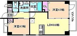 仮称)伊加賀東町PJ 2階2LDKの間取り