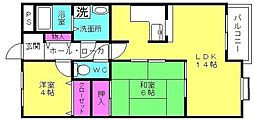 兵庫県高砂市曽根町の賃貸マンションの間取り