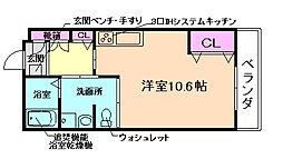 大阪府池田市建石町の賃貸マンションの間取り