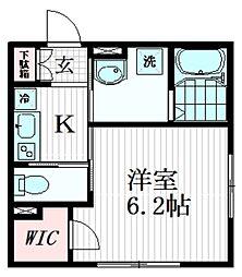東武東上線 下板橋駅 徒歩7分の賃貸アパート 3階1Kの間取り