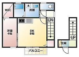 兵庫県高砂市米田町塩市の賃貸アパートの間取り