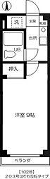 東京都国分寺市本多1丁目の賃貸アパートの間取り