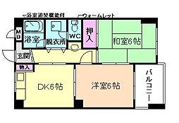 メゾン阪下[4階]の間取り