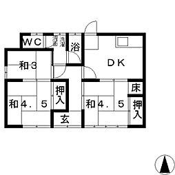 [一戸建] 岡山県倉敷市玉島2丁目 の賃貸【/】の間取り