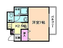 グリーンマンション玉屋[1階]の間取り
