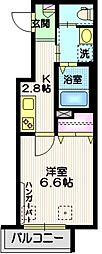JR京浜東北・根岸線 大井町駅 徒歩4分の賃貸マンション 3階1Kの間取り