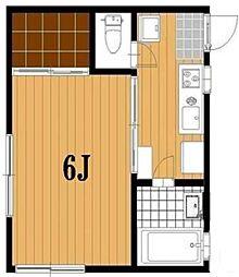 千葉県船橋市本町5丁目の賃貸アパートの間取り