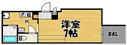 阪急千里線 下新庄駅 徒歩5分の賃貸アパート 1階1Kの間取り