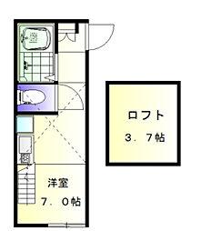 ヒルズ妙蓮寺II[2階]の間取り