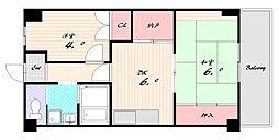 兵庫県神戸市長田区日吉町5丁目の賃貸マンションの間取り