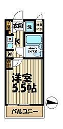 ワコーレ大船[304号室]の間取り