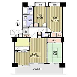 リーフガーデン和泉中央1番館3階Fの間取り画像