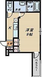 サンシーブル 三国ケ丘[2階]の間取り