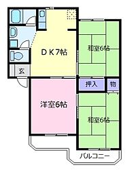 ロイヤルコートA棟[3階]の間取り