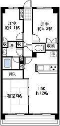 藤和シティーコープ鶴見[4階]の間取り