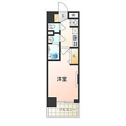 阪急京都本線 崇禅寺駅 徒歩3分の賃貸マンション 4階1Kの間取り