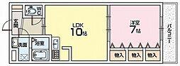 ナリッシュ藤阪[2階]の間取り