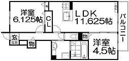フェリーチェ シゲノA棟[1階]の間取り