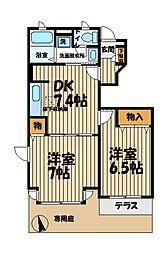 シャトーレ湘南I[1階]の間取り