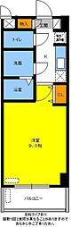 名鉄豊田線 黒笹駅 徒歩3分の賃貸マンション 2階1Kの間取り