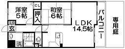 サンジェール増井[1階]の間取り