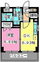 ローヤルマンション博多駅前[5階]の間取り