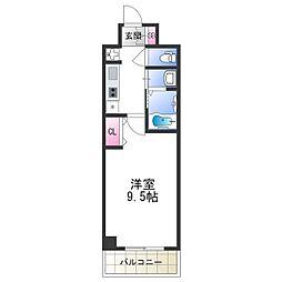 セブンレジデンス日本橋 5階1Kの間取り