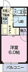 愛知県大府市横根町狐山の賃貸アパートの間取り