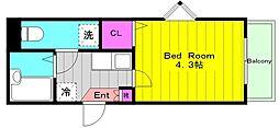 小田急小田原線 生田駅 徒歩10分の賃貸アパート 1階1Kの間取り