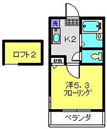 CASA FELICE HOSHIKAWA[202号室]の間取り