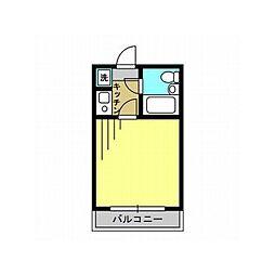 東武野田線 北大宮駅 徒歩3分の賃貸マンション 1階1Kの間取り
